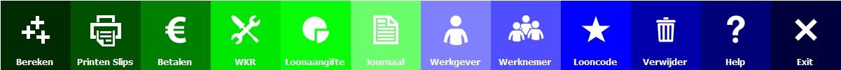 LogiSal salarisadministratie software hoofdmenu instelbaar