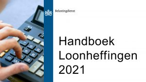 Oktoberversie handboek Loonheffingen 2021